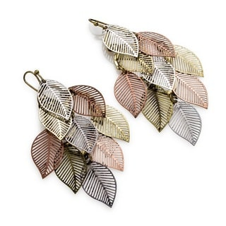 Pearlperri Bohemian Zearo Gravity 'Autumn Leaves' Chandelier Earrings
