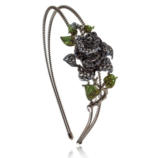 Pearlperri 'Black Rose of Eden' Dazzling Headband