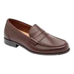 Men's Rockport Classic Penny Loafer Coach Brown Leather