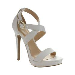 Women's Wild Diva Madden-01-LF Platform Sandal White Faux Leather