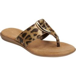 Women's Aerosoles Nice Save Thong Sandal Leopard Metallic Faux Leather