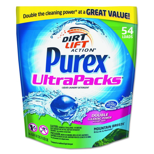 Purex Ultrapacks Mountain Fresh Liquid Laundry Detergent (Pack of 54)