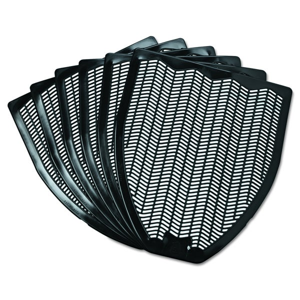 Impact Black, 17 1/2 x 20 3/8, Disposable Urinal Floor Mats (Pack of 6)