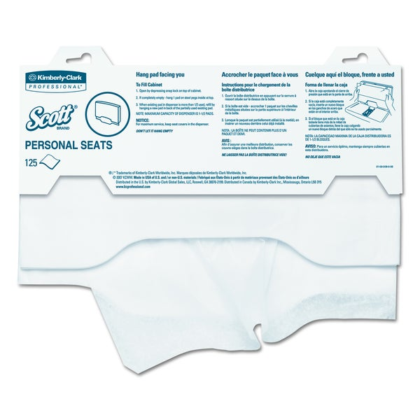 Scott Personal Seats Sanitary Toilet Seat Covers (Pack of 125 Covers)