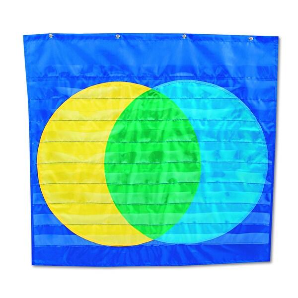 Carson-Dellosa Publishing 34 1/2 x 32 Venn Diagram Nine Pocket Chart (Includes Pocket Chart and Resource Guide)