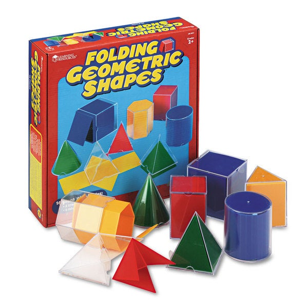 Learning Resources Folding Geometric Shapes (Includes 8 Transparent Shapes and 8 Folding Nets)