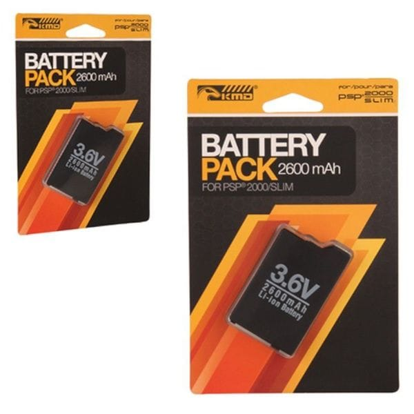 KMD 3.6V 2600 mAh Lithium Ion Rechargeable Battery For Sony Playstation PS Portable 2000