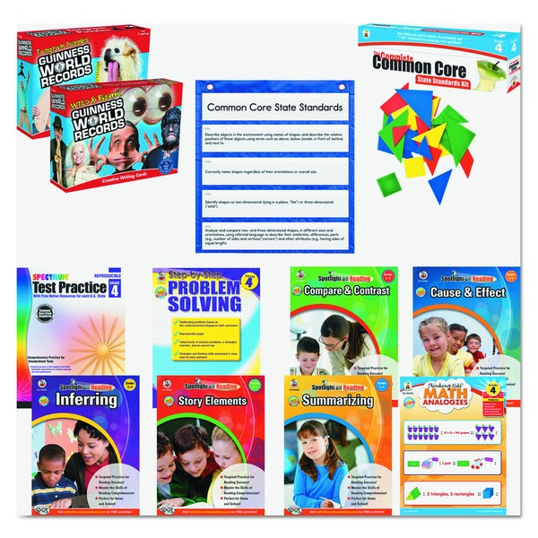 Carson-Dellosa Publishing Math/Language Grade 4 Common Core Kit