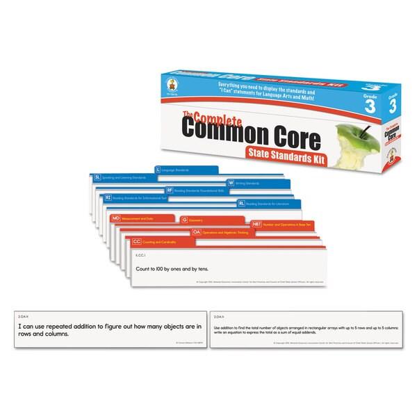 Carson-Dellosa Publishing Language Arts & Math Grade 3 Common Core State Standard Pocket Chart Cards