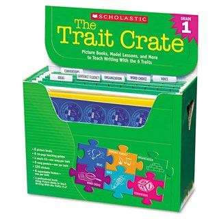 Scholastic Grade 1 Trait Crate Grade 1 Six Books Learning Guide, CD, More
