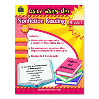 Teacher Created Resources Grade 1 Nonfiction Reading Daily Warm-ups 176 pages