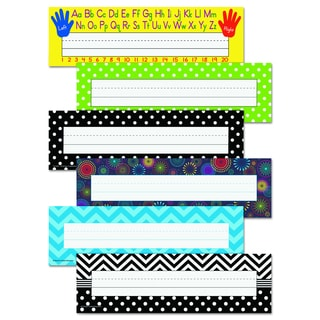 Teacher Created Resources 11.5 x 3.5 Assorted Color Nameplate Set