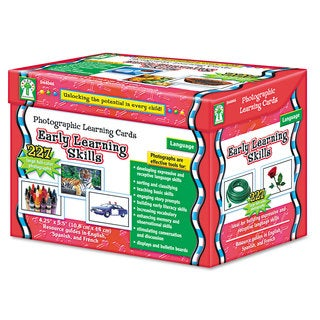 Carson-Dellosa Publishing Early Learning Skills Photographic Learning Cards Boxed Set