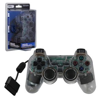 TTX Tech Crystal Clear Wired 12 Key Sony Playstation PS 2 Dual Shock 2 Analog Controller