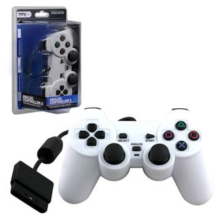 TTX Tech White Wired 12 Key Sony Playstation PS 2 Dual Shock 2 Analog Controller