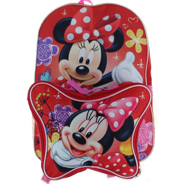 Minnie Mouse Backpack with Lunchbox