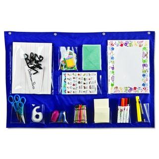 Carson-Dellosa Publishing Blue 18 x 33 Writing Center Pocket Chart