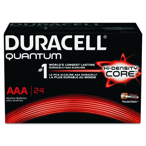 Duracell Quantum AAA Alkaline Batteries with Duralock Power Preserve Technology (Pack of 144 Batteries)