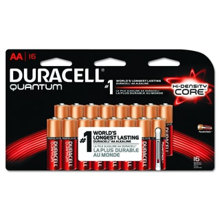 Duracell Quantum AA Alkaline Batteries with Duralock Power Preserve Technology (Pack of 16)