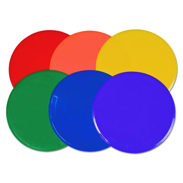 Champion Sports Extra Large 12 inch Diameter Poly Marker Set (Set of 6)