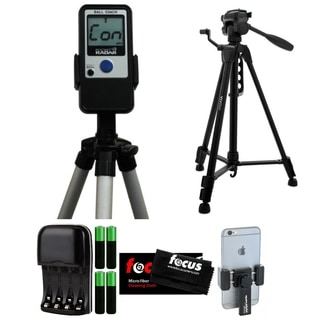 Pocket Radar Ball Coach/Pro-Level Speed Training Radar Gun + Focus 59-Inch Tripod + Smartphone Tripod Mount + Accessory Kit