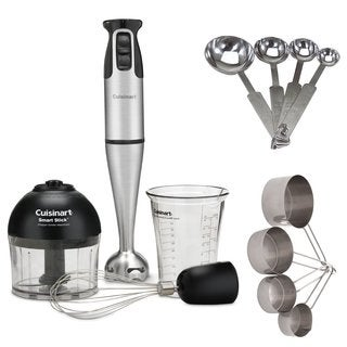 Cuisinart CSB-79 Smart Stick 2-Speed Immersion Hand Blender with Attachments (Refurbished) Bundle
