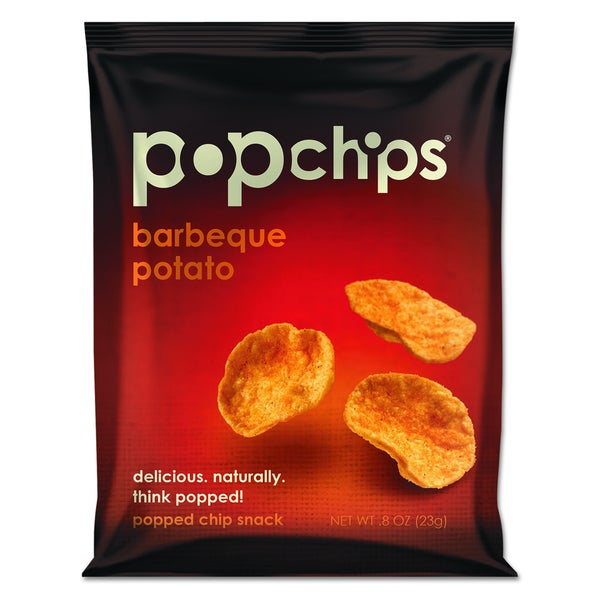 popchips Barbeque Flavor Potato Chips (Pack of 72 bags)