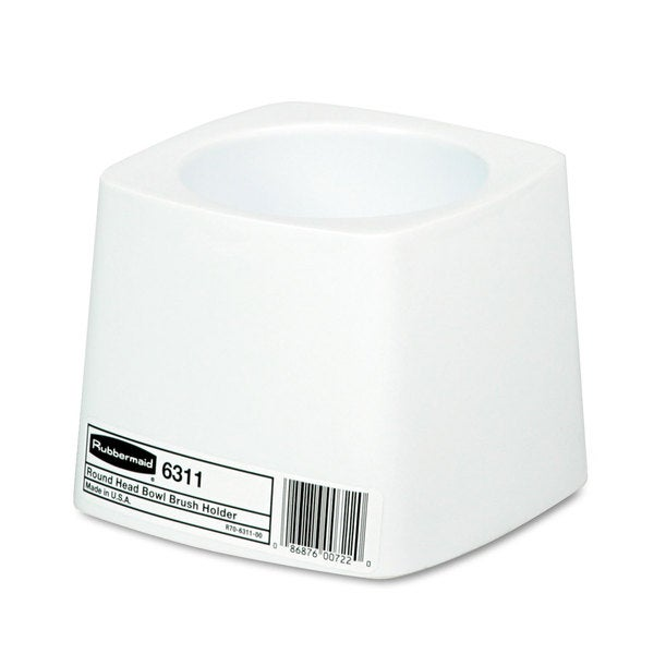 Rubbermaid Commercial White Plastic Holder for Toilet Bowl Brush
