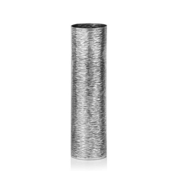 Flako Small Silver Metallic Vase