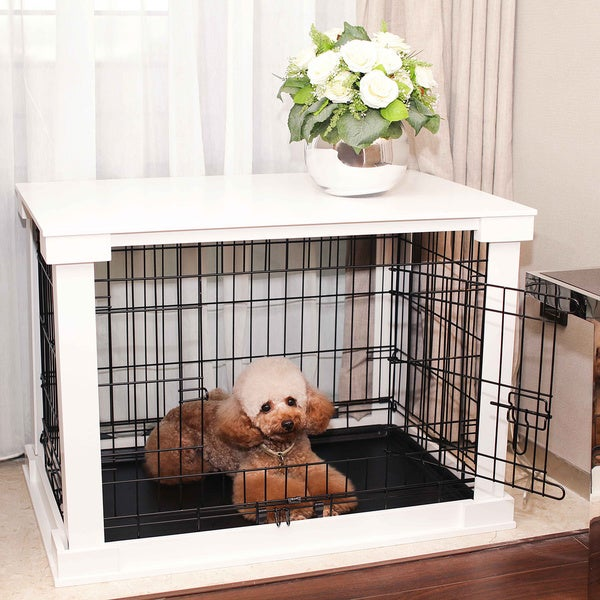 White Cage with Crate Cover