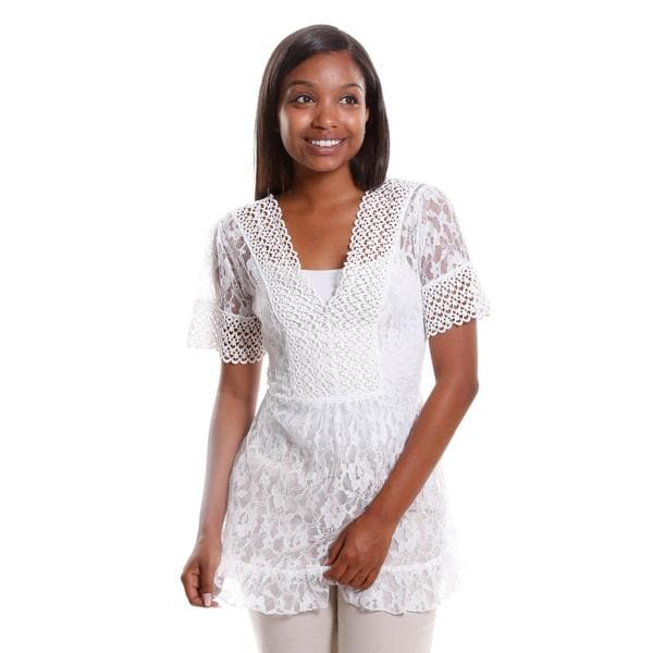 Hadari Women's Sheer Lace Tunic