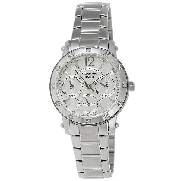 Casio Women's SHN3012D-7A Sheen White Watch