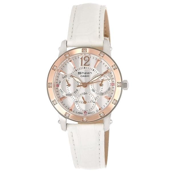 Casio Women's SHN3012GL-7A Sheen White Watch