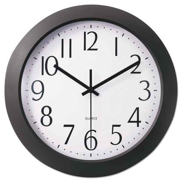 Universal One Black Whisper Quiet Clock (Pack of 2)