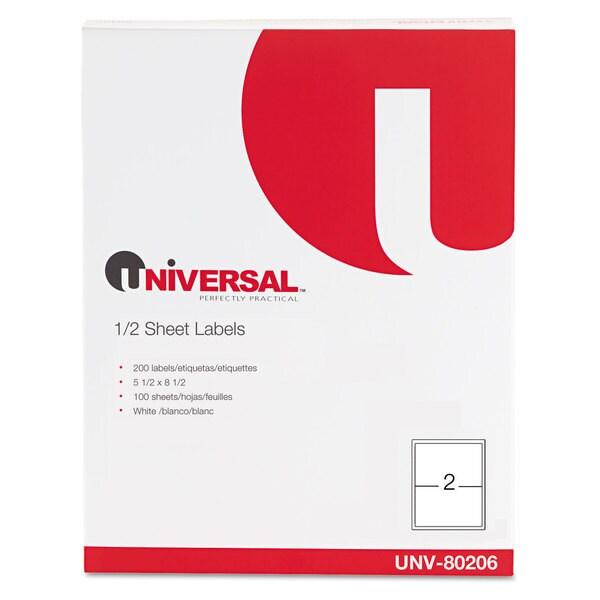 Universal White Inkjet/Laser Printer Labels (2 Packs of 200)