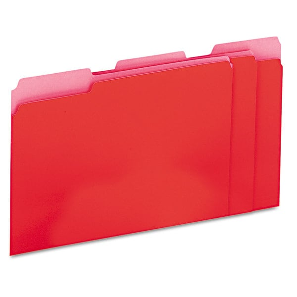 Universal Red Recycled Interior File Folders (Box of 100)
