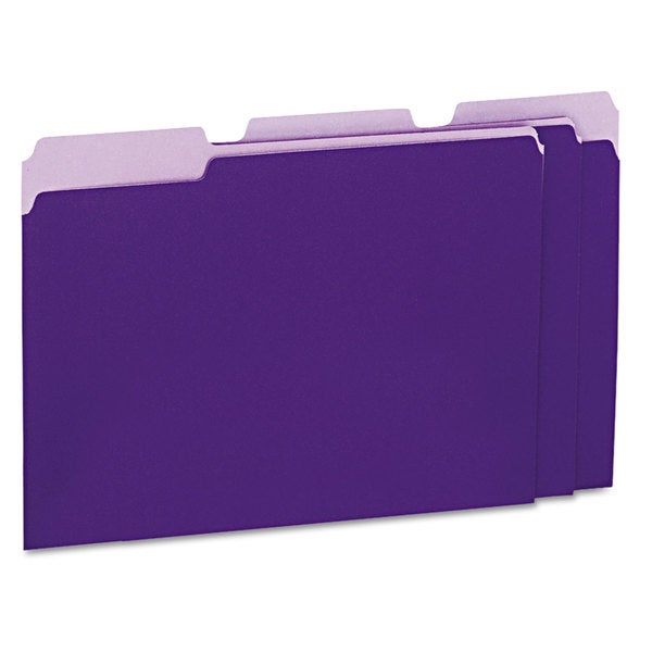Universal Violet Recycled Interior File Folders (Box of 100)