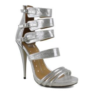 Fahrenheit Women's Rae-05 Strappy Belted Women's High Heel Sandal