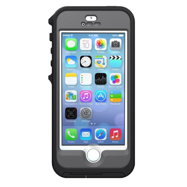 Apple iPhone 5/5s 32GB Unlocked GSM Phone Silver/White + OtterBox Preserver Case