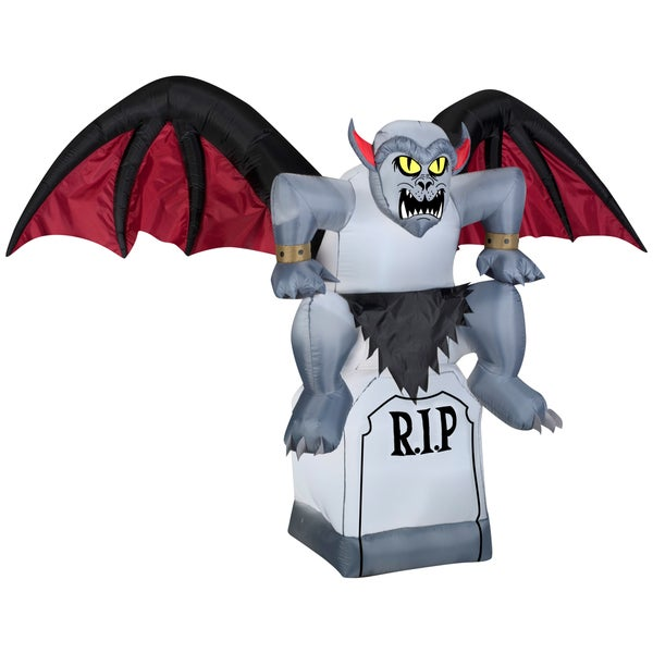 Animated Gargoyle on a Tombstone
