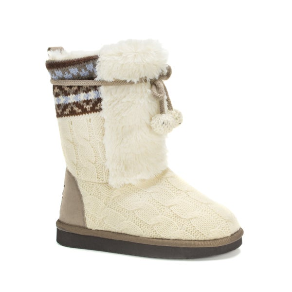 Muk Luks Girls' Vanilla Jewel Boots