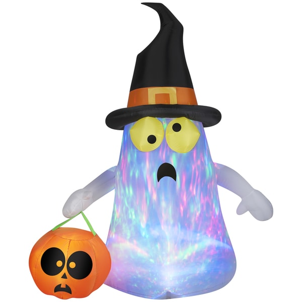 Projection Kaleidoscope Ghost with Witch Hat