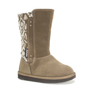 Muk Luks Girls' Moccasin Animal Print Stacy Boots