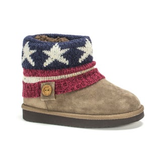 Muk Luks Girls' Dark Red Patti Boots