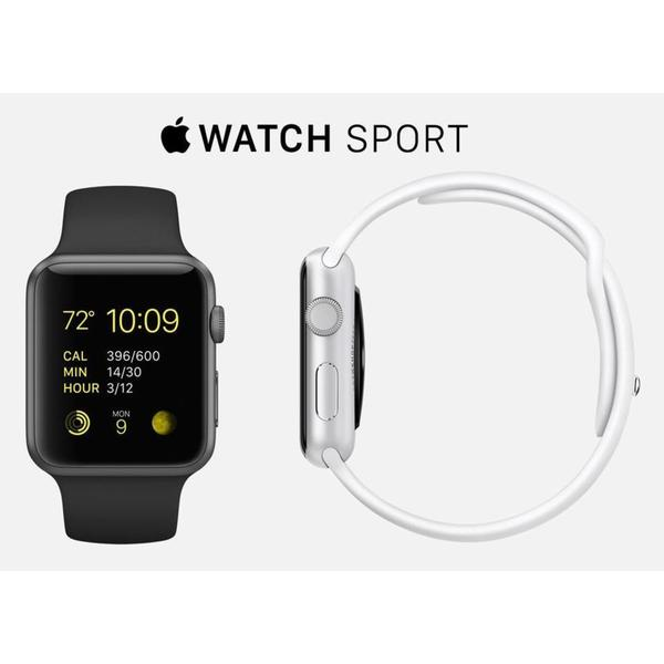 "Apple Watch 38mm (5.1""- 7.8"" wrists) Aluminium, Sport Band"