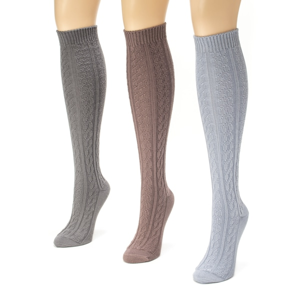 Muk Luks Women's Microfiber Boot Sock Pack (Pack of 3)