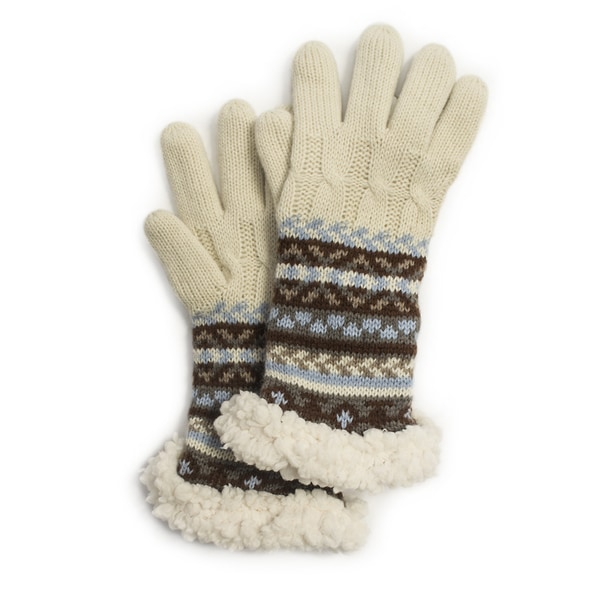 Muk Luks Women's Fairisle Cable Gloves