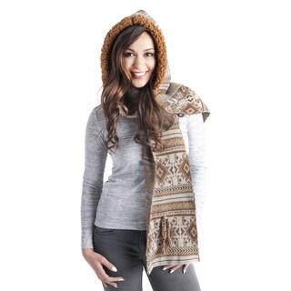 Muk Luks Women's Geometric Hooded Scarf