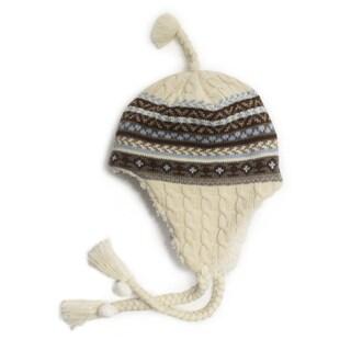 Muk Luks Women's Fairisle Cable Tassel Helmet