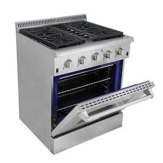 Thor Kitchen 30-inch All Stainless Steel Professional Gas Range with 4 burners